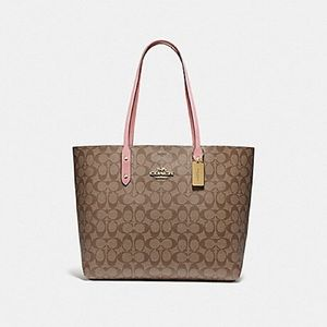 Coach Town Tote In Signature Canvas Large